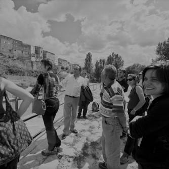 Visite de l'amenagement du meandre de l'Ebre a Flix en Catalogne